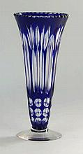 A fine quality early 20th Century Bohemian glass vase by J Stafford Having