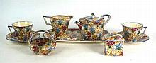 A Royal Winton Marguerite pattern chintz tea and dinner service Comprising