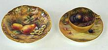 A group of Royal Worcester fruit painted, painted by Thomas Lockyer and Hor