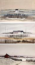 Mike Haworth (British, 20th/21st century)- 'Lancashire landscapes' Three mi