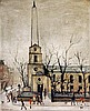 Laurence Stephen Lowry RA (British 1887-1976)- ' St Lukes church, old Stree, L.S. Lowry, £600