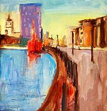 Paul Bassingthwaite (British, b.1963) - 'Albert Dock' Oil on panel, signed