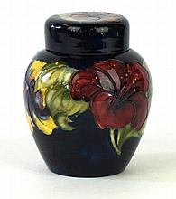Walter Moorcroft ginger jar and cover Decorated in the Hibiscus pattern on