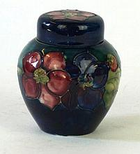 Walter Moorcroft ginger jar and cover Of bulbous form, decorated in the Cle