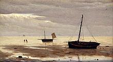 Attributed to Edmond Blair Leighton ROI (British, 1853-1922) - 'Low tide' O