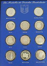 A cased set of silver proof German medals Comprising eleven medals commemor