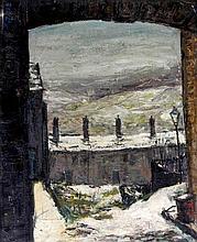 Herbert Bannister Whone (Scottish, 1925-2011) - 'Terraced Cottages' Oil on