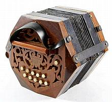 A German national band concertina The twenty one button instrument with car