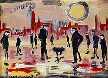 James Lawrence Isherwood (British, 1917-1989) - 'Homo Sapiens' Oil on board