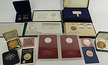 A collection of commemorative silver proof medals Comprising cased Queen El