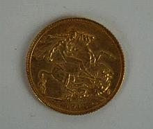 A George V Gold Sovereign London Mint, dated 1914.