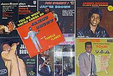 Seven LP records by James Brown Comprises 'Pure Dynamite! (as James Brown