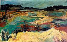 Richard Weisbrod (British, 1906-1991) - 'Panoramic Landscape'  Oil on panel