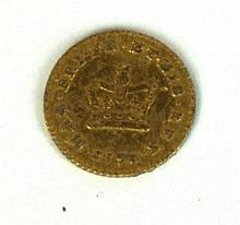 A George III third of a gold Guinea Dated 1798