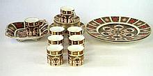 A collection of Royal Crown Derby Imari pattern wares All 1128 pattern, to
