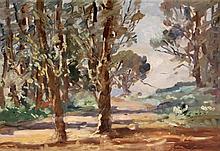 John Kenneth Ferguson (South African, 1885-1967) - 'Wooded Landscape' Oil o