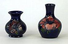 Two Walter Moorcroft vases Each decorated in the Anemone pattern, one examp