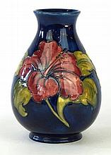 A Moorcroft Pottery vase of baluster form Decorated in the Hibiscus pattern