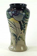 A Moorcroft Pottery trial vase of cylindrical waisted form Decorated in the