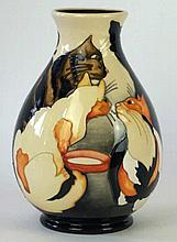 A Moorcroft Pottery limited edition vase of baluster form Decorated in the