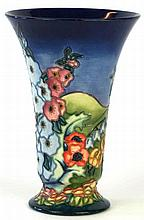 A modern Moorcroft pottery limited edition vase  Of trumpet form, decorated
