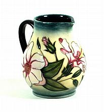 Modern Moorcroft pottery limited edition jug of baluster form Decorated in