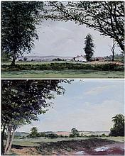 Valerie Chilton (20th/21st Century) - 'Cheshire Cottage' and 'Cheshire Land