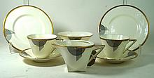 Royal Doulton Tango six setting tea service Having Art Deco decoration with