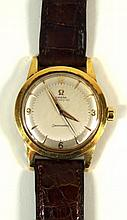 An Omega automatic Seamaster 18ct gold gentleman's wristwatch Mounted on a