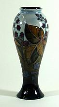 Modern Moorcroft pottery vase of inverted baluster form Decorated in the Br