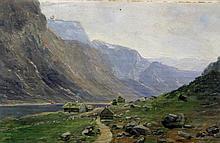 Danish School (early 20th Century) - 'Panoramic Mountainous Landscape' Oil