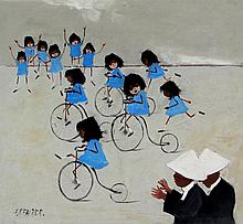 Frederick Park Fairer (British, 1910-1984) - 'The Penny Farthing Parade' Oi