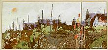 Leonard Gray RSW (British, b.1925) - 'Inverallochy Foreshore' Gouache, sign