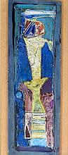 Tadeusz Was (Polish, 1912-2005) - 'Abstract Study' Thick impasto oil/acryli