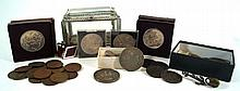 A collection of British coinage  To include Queen Victoria silver crown dat