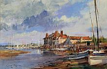 Ivan Taylor (British, b.1946) - 'Blakeney, Norfolk' Oil on panel, signed, b