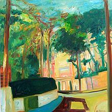 John Bellany CBE (Scottish, 1942-2013) - 'Winter Gardens' Oil on canvas, si