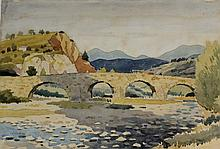 Pierre Adolphe Valette (French, 1876-1942) - 'Viviers, France' Watercolour,