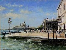 Marc Grimshaw - (British, b. 1957) - 'Venice' Pastel, signed, approx 27x37c