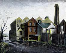 Frank Bradley RCA (British, 1903-1995) - 'Botany Mill, Charlesworth, Derbys
