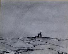 Frank Bradley RCA (British, 1903-1995) - 'Jing Jong Tin Mines' (Cornwall) P