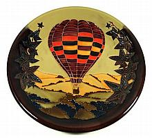 A modern Moorcroft limited edition circular charger Decorated in the Autumn