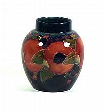 William Moorcroft vase of bulbous form Decorated in the pomegranate pattern