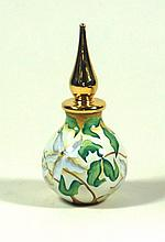 A Modern Moorcroft enamel perfume bottle and stopper Decorated with Magnoli