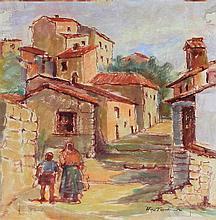 Tadeusz Was (Polish, 1912-2005) - 'Forli, Italy, 1944' Watercolour on paper