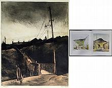 George Chapman (British, 1908-1994) - 'The Bridge' Large scale pencil signe