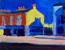Paul Bassingthwaite (British, b.1963) - 'Sunlit corner' Oil on board, signe
