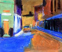 Paul Bassingthwaite (British, b. 1963) - 'Back Street Manchester' Oil on bo