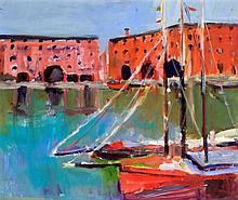 Paul Brassingthwaite (British, b.1963) - 'Liverpool Dock 3' Oil on board, a