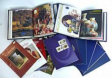 A large collection of Moorcroft Collectors Club magazines And Broachers, va